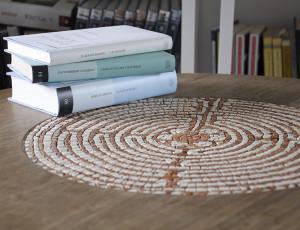 "Mosaic small table ""Labirinto"""